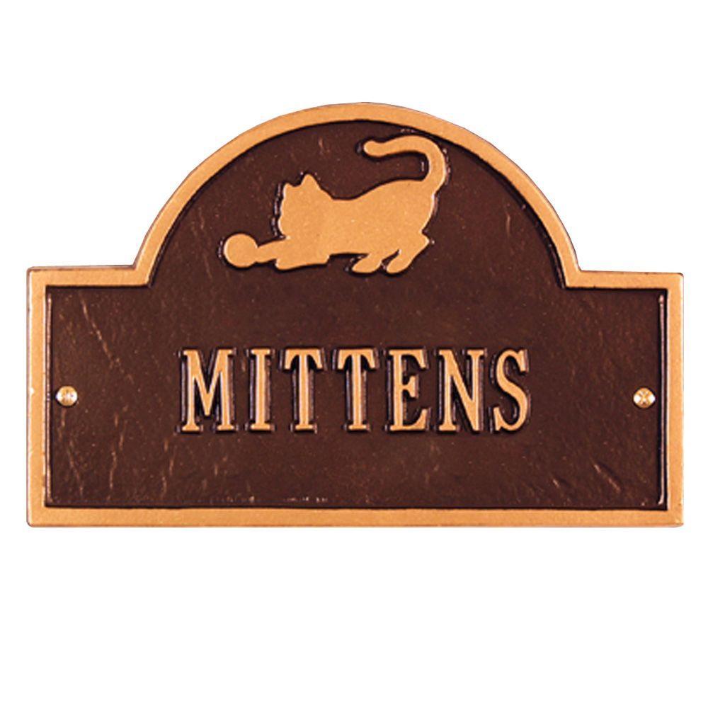 Pet Cat Mini Arch Antique Copper One Line Wall Marker
