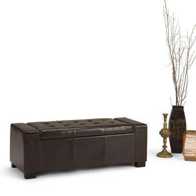 Laredo Tanners Brown Storage Bench