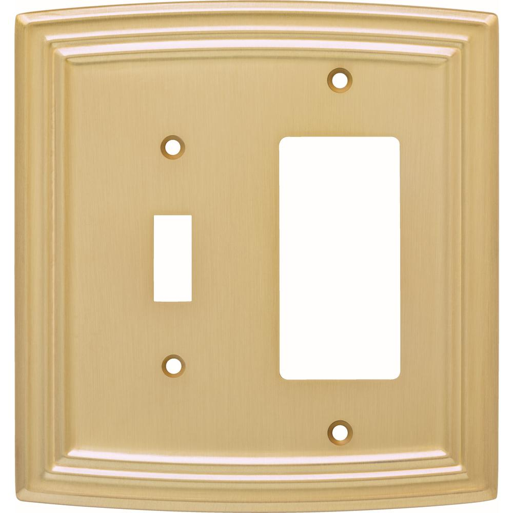 Liberty Emery Decorative Light Switch And Rocker Cover Brushed Br