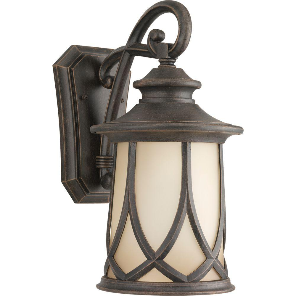 Progress Lighting Resort Collection 1 Light Outdoor 8.5 Inch Aged  CopperWall Lantern P5988 122   The Home Depot