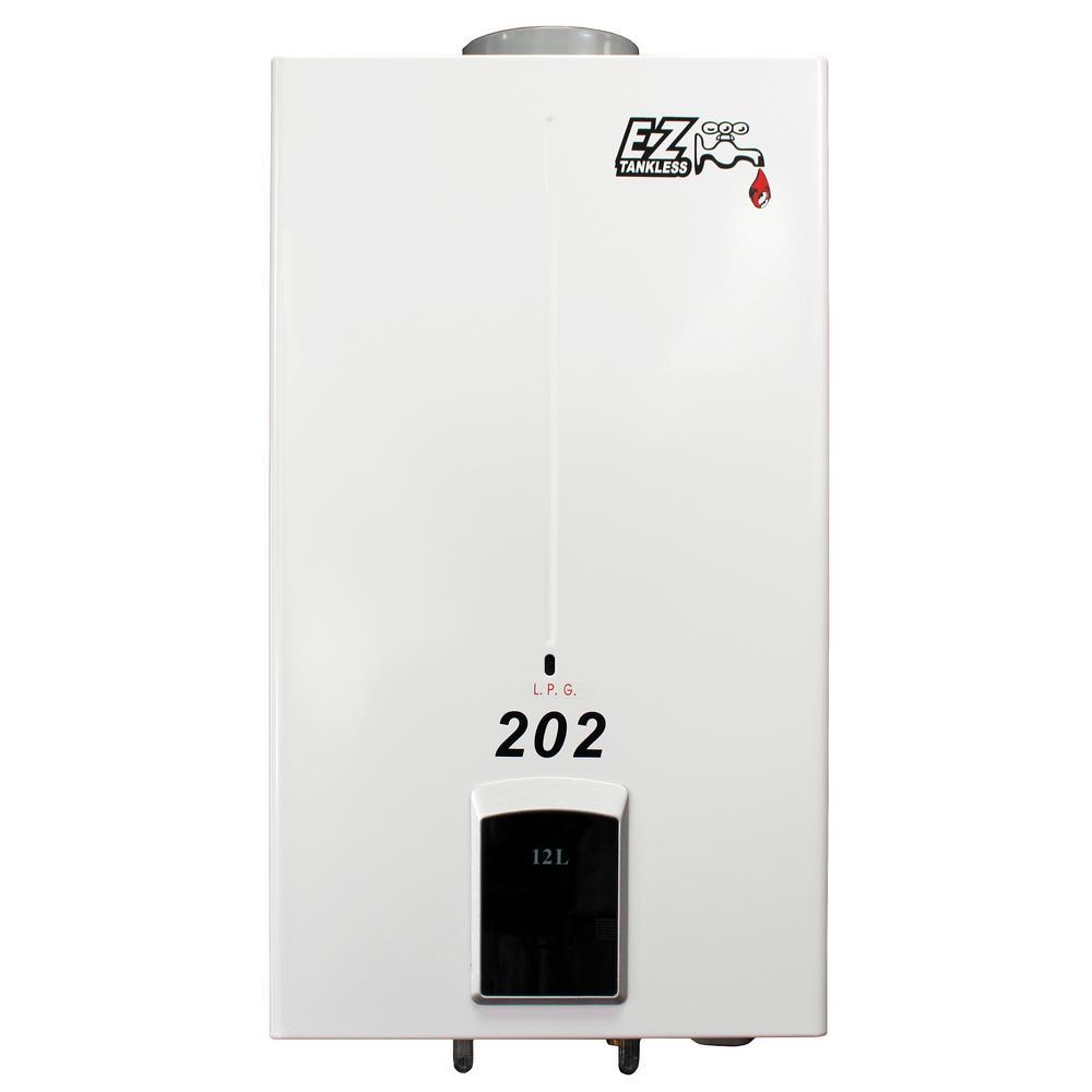 202 4.0 GPM 85,000 BTU Propane Gas Portable Tankless Water Heater