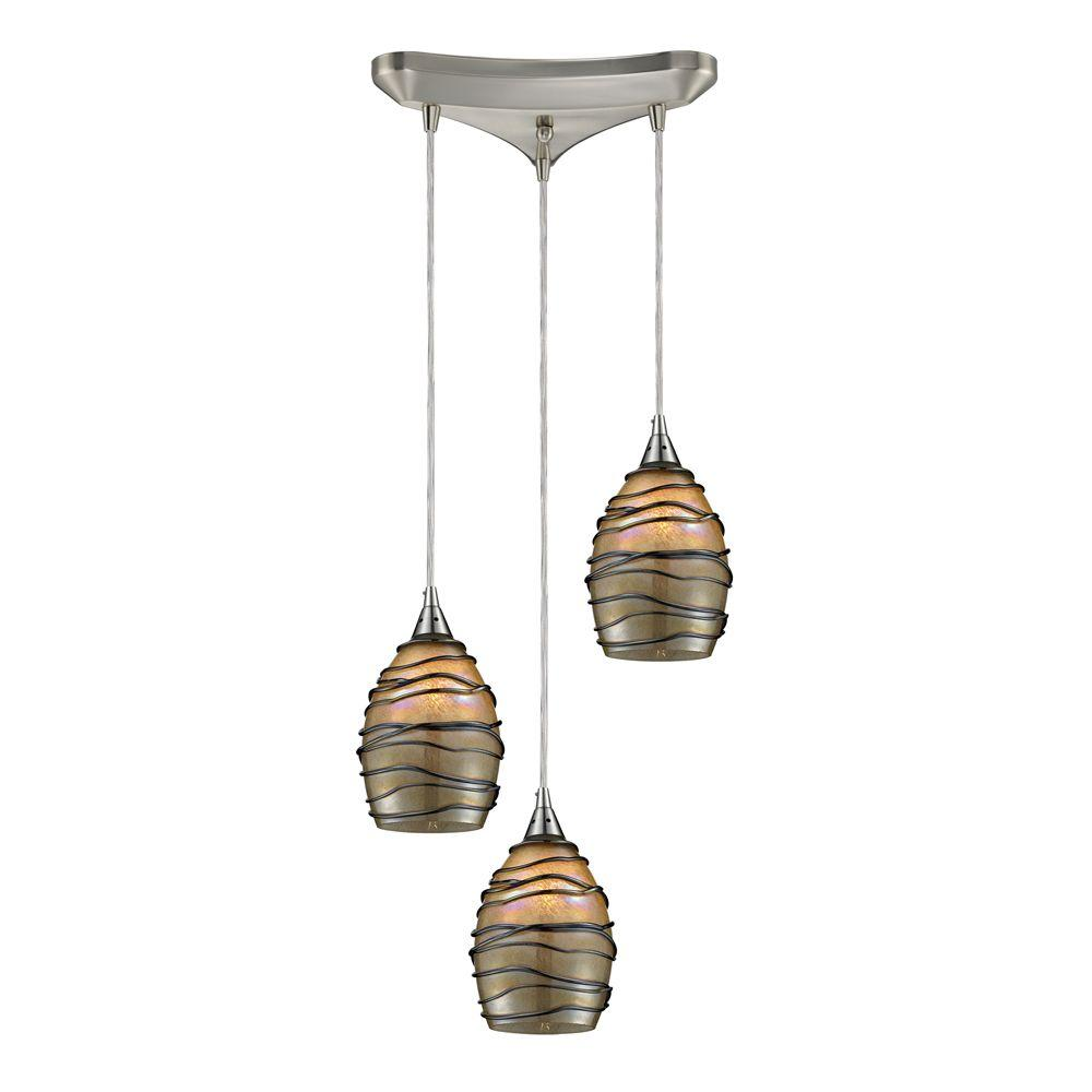 Titan lighting vines 3 light satin nickel ceiling mount pendant tn titan lighting vines 3 light satin nickel ceiling mount pendant aloadofball Gallery