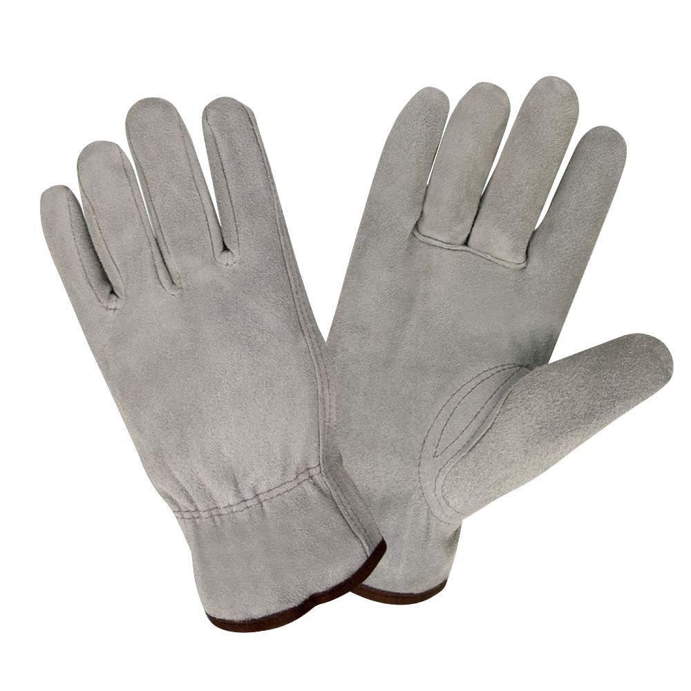 Select Split Cow Driver Large Work Glove Shirred Back Keystone Thumb