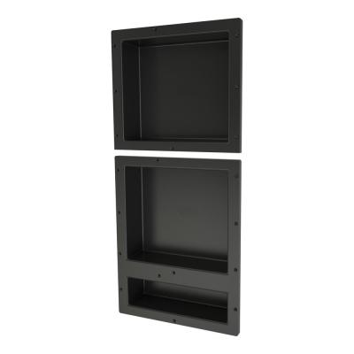 Redi Niche 16 in. x 34 in. Triple Shower Niche Set in Black