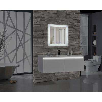Encore BLU103 24 in. W x 27 in. H Rectangular LED Illuminated Bathroom Mirror with Bluetooth Audio Speakers