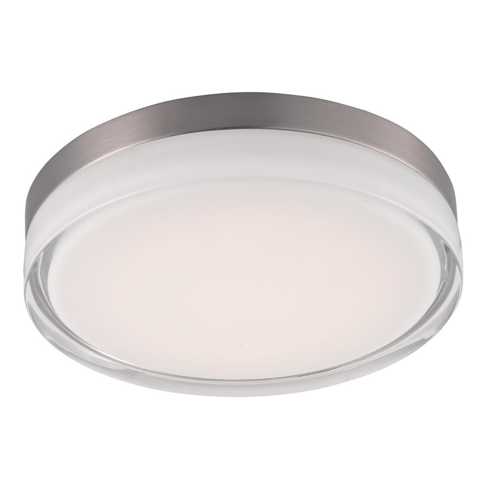 Maxim Lighting Illuminaire 1-Light Satin Nickel Integrated LED Flush Mount