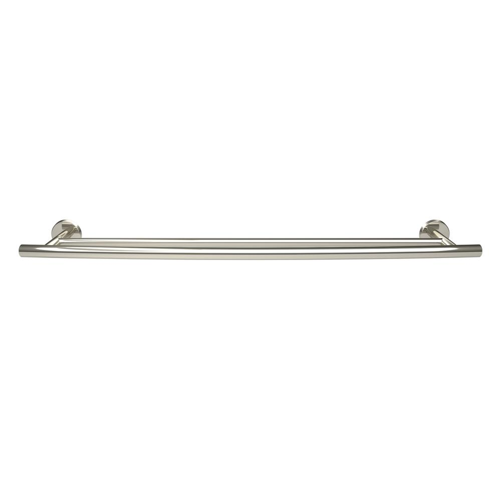 Arrondi 24 in. (610 mm) Double Towel Bar in Polished Stainless