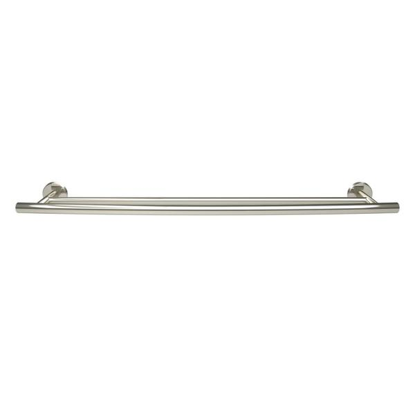 Amerock Arrondi 24 In 610 Mm Double Towel Bar In Polished Stainless Steel Bh26545pss The Home Depot