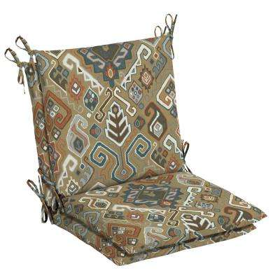 20 x 17 Outdoor Dining Chair Cushion in Olefin Southwest Toffee (2-Pack)