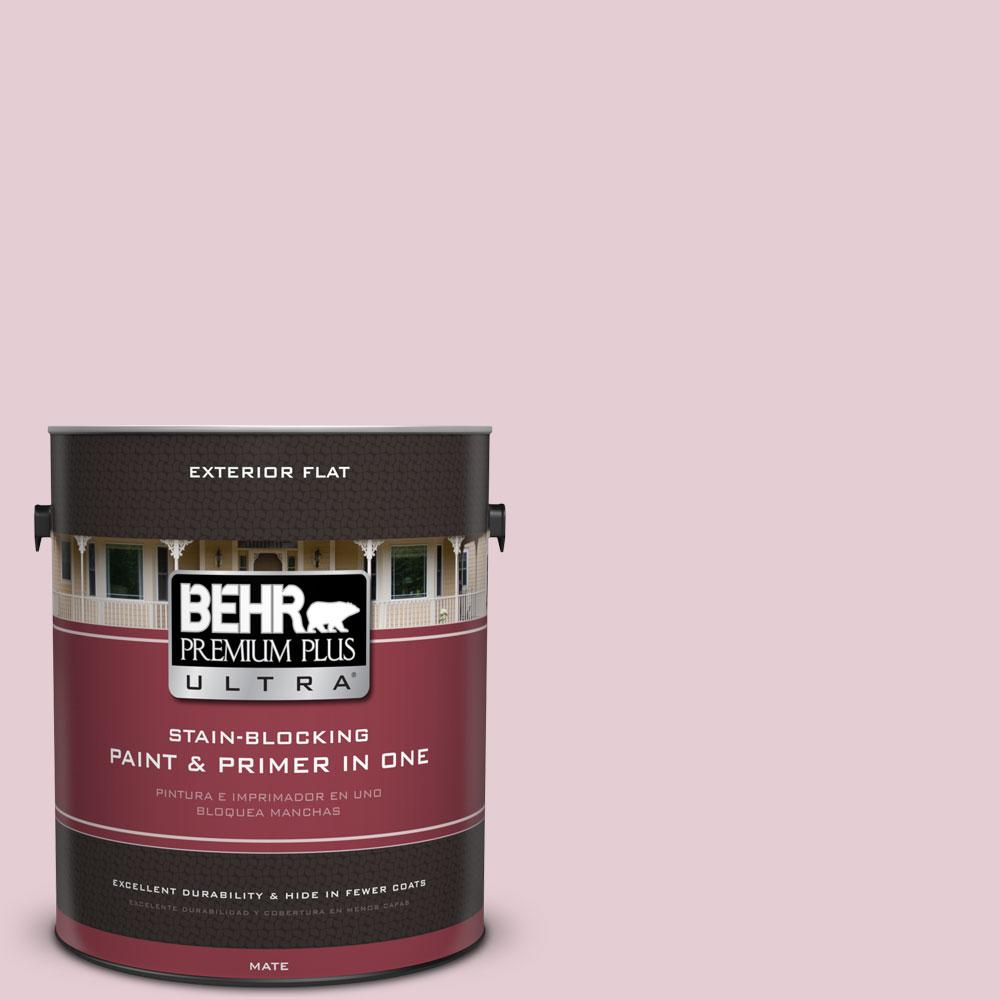1-gal. #100C-2 Cool Pink Flat Exterior Paint