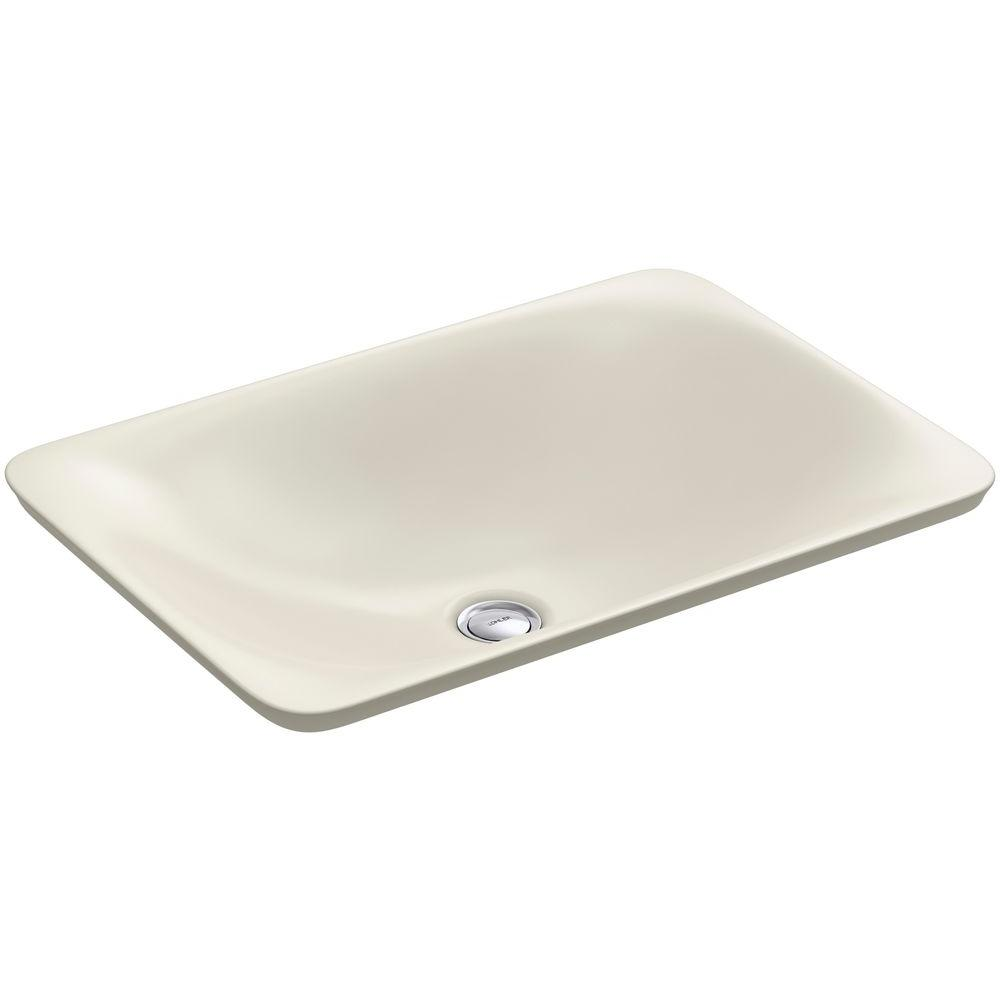 KOHLER Carillon Wading Pool Above-Counter Vitreous China Bathroom Sink in Biscuit