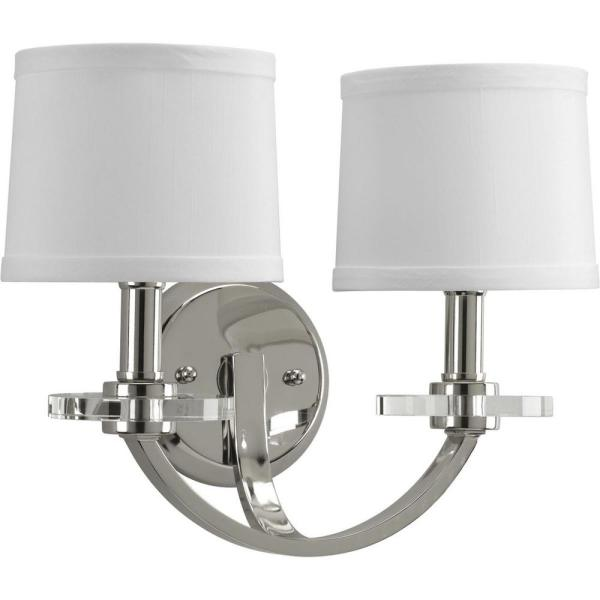 Progress Lighting Fortune 1-Light Polished Nickel Wall Sconce