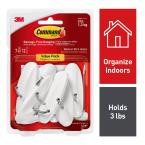 Medium White Wire Hooks Value Pack (7-Hooks) with 12-Adhesive Strips