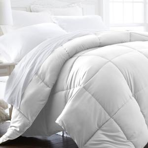 Deals on Becky Cameron Performance White Solid Queen Comforter