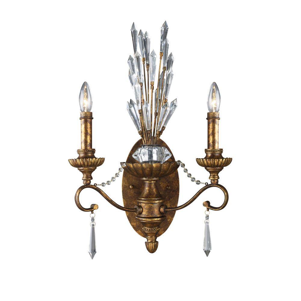 Titan Lighting Senecal 2-Light Spanish Bronze Sconce