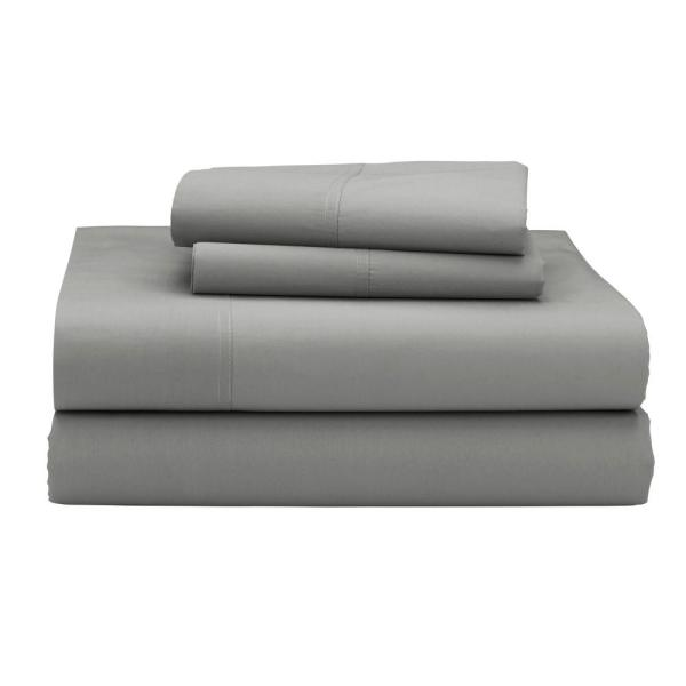 The Company Store Company Cotton 3-Piece Ash Gray 300 Thread Count