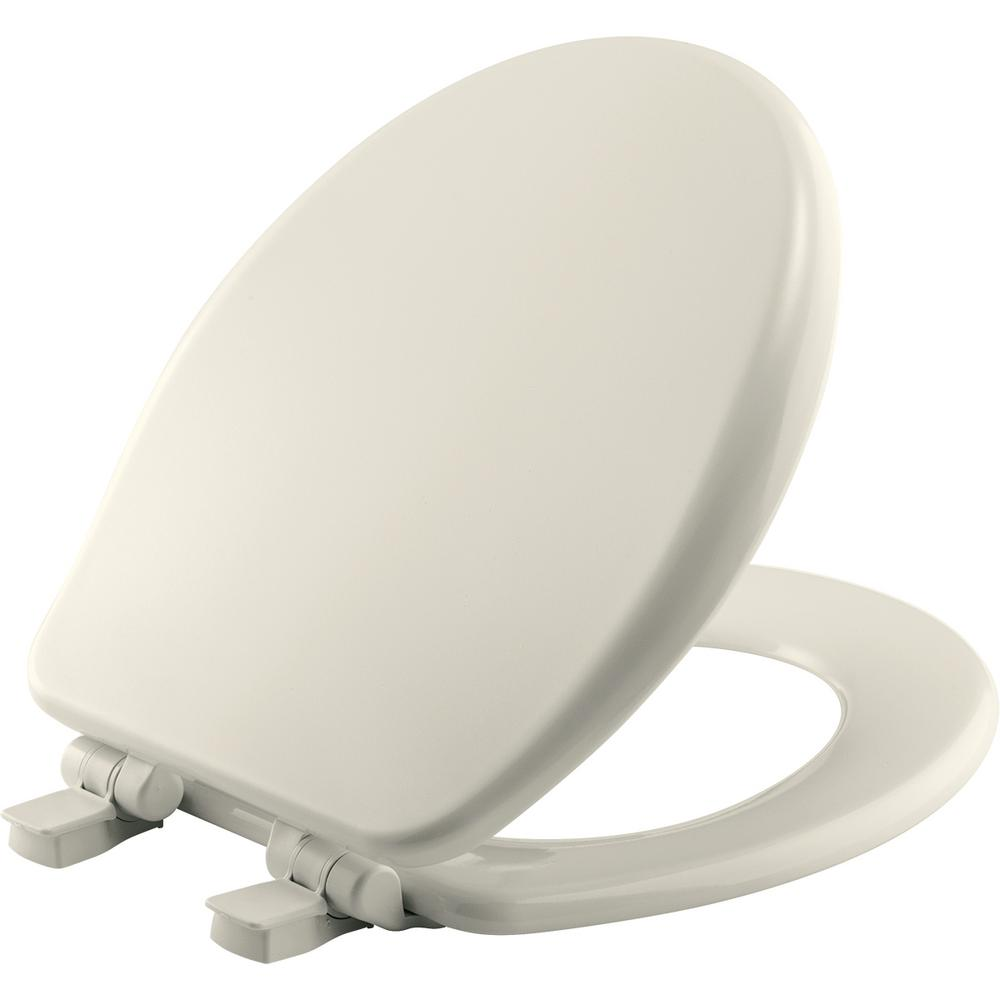 Round Closed Front Toilet Seat in Biscuit