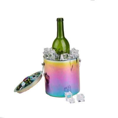 Assorted Color Metal Ice Bucket Beverage Chiller with Handles
