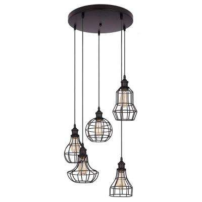 Lancy Collection 5-Light Black Pendant