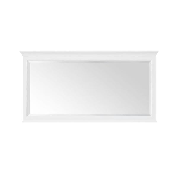 60.00 in. W x 31.00 in. H Framed Rectangular  Bathroom Vanity Mirror in White