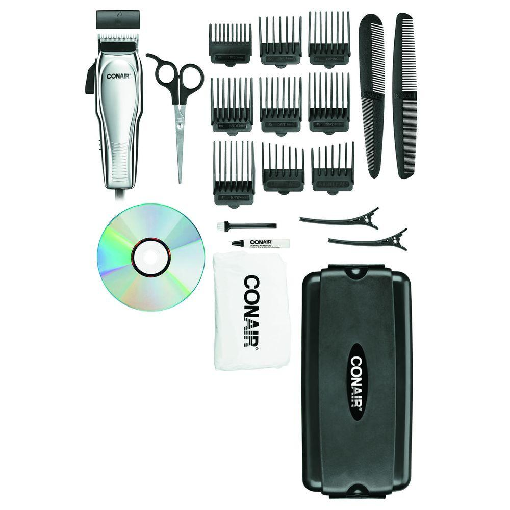Conair 21 Piece Haircut Kit With Case Hc200gb The Home Depot