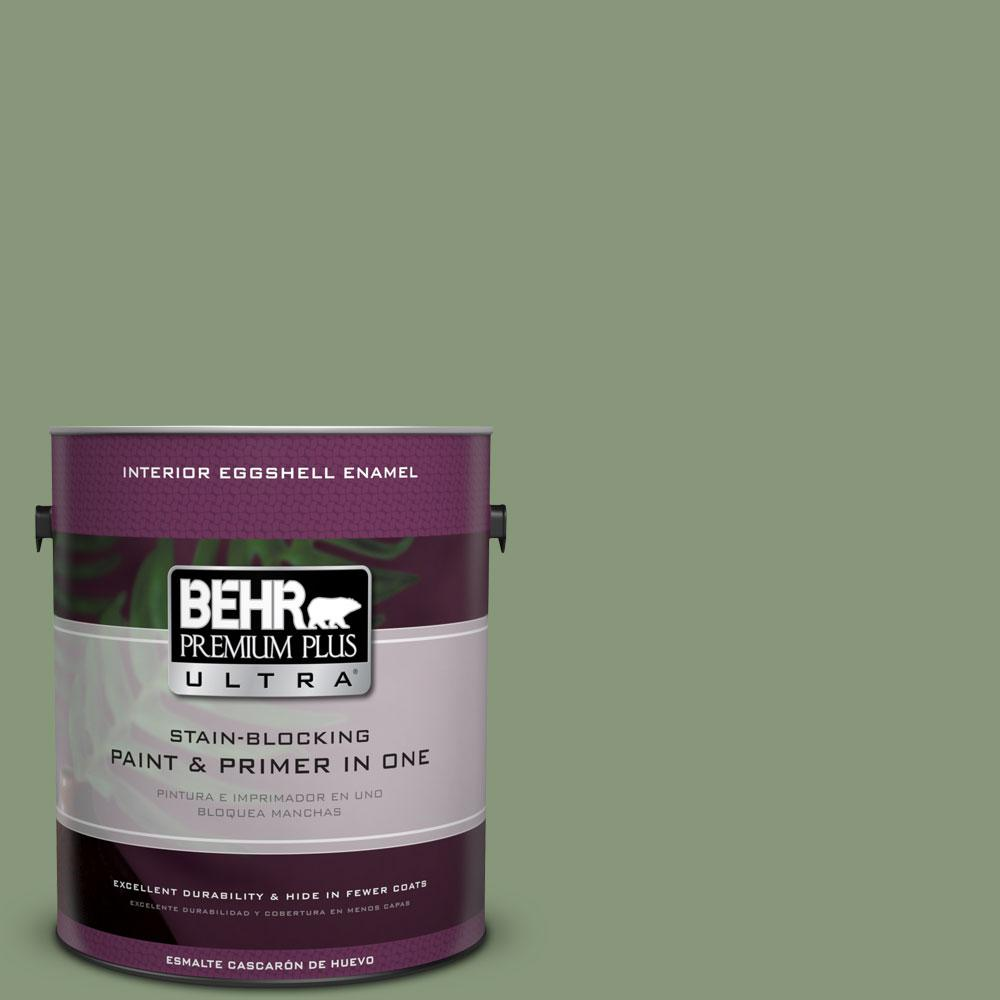 BEHR Premium Plus Ultra 1-gal. #S390-5 Laurel Tree Eggshell Enamel Interior Paint