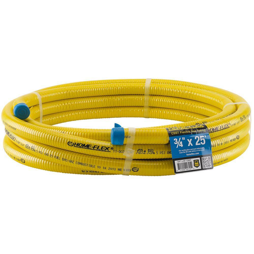 HOME-FLEX 3/4 in. CSST x 25 ft. Corrugated Stainless Steel Tubing
