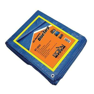 25 ft. x 20 ft. All Purpose Blue Tarp (4-Pack)