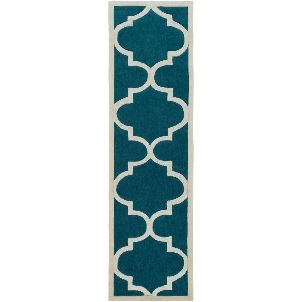 Santorini Harmony Teal 2 ft. 3 in. x 8 ft. Indoor