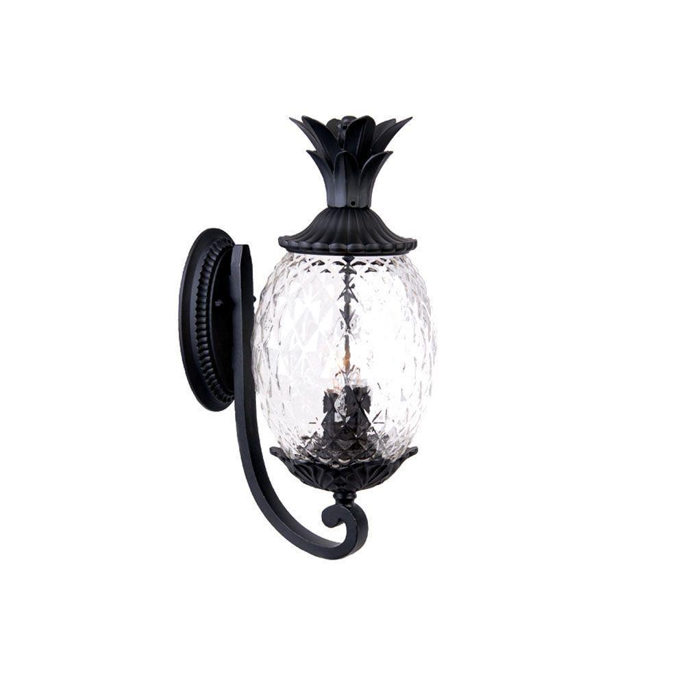 Lanai Collection 3-Light Matte Black Outdoor Wall-Mount Light Fixture