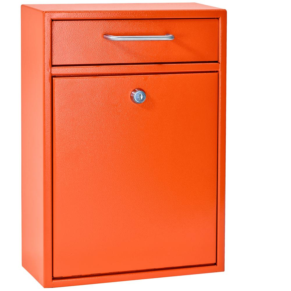 Mail Boss Olympus Locking Wall Mount Drop Box With High
