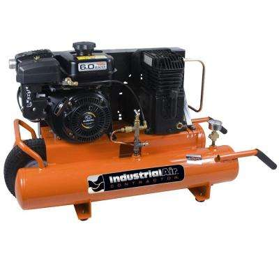 8 Gal. Portable Wheelbarrow Air Compressor with 6 HP Subaru Gas Engine