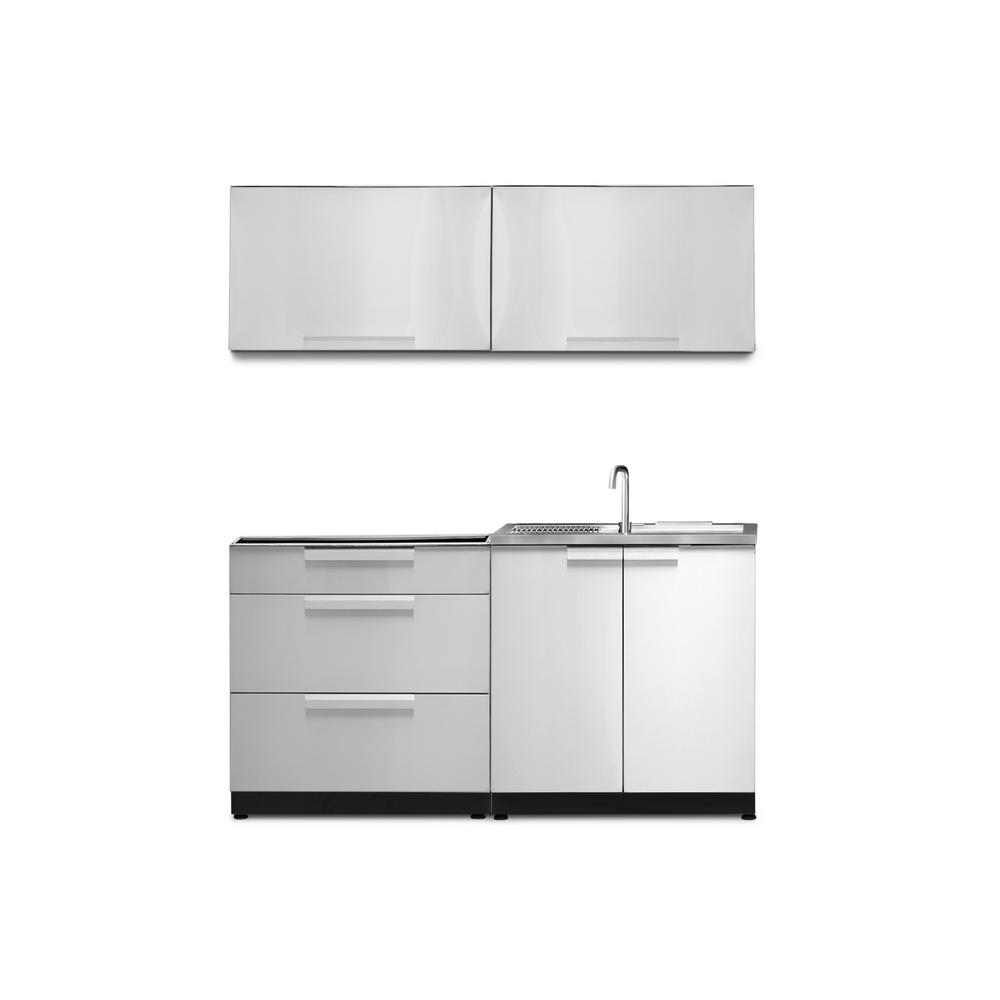 NewAge Products Stainless Steel 4-Piece 64 in. W x 36.5 in. H x 24 in. D Outdoor Kitchen Cabinet Set without Countertop was $5349.93 now $3324.99 (38.0% off)