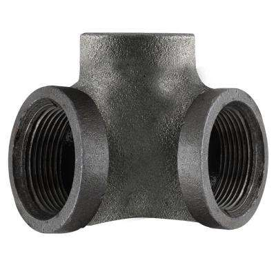 1/2 in. 3-Way Black Iron 90° Side Outlet Elbow