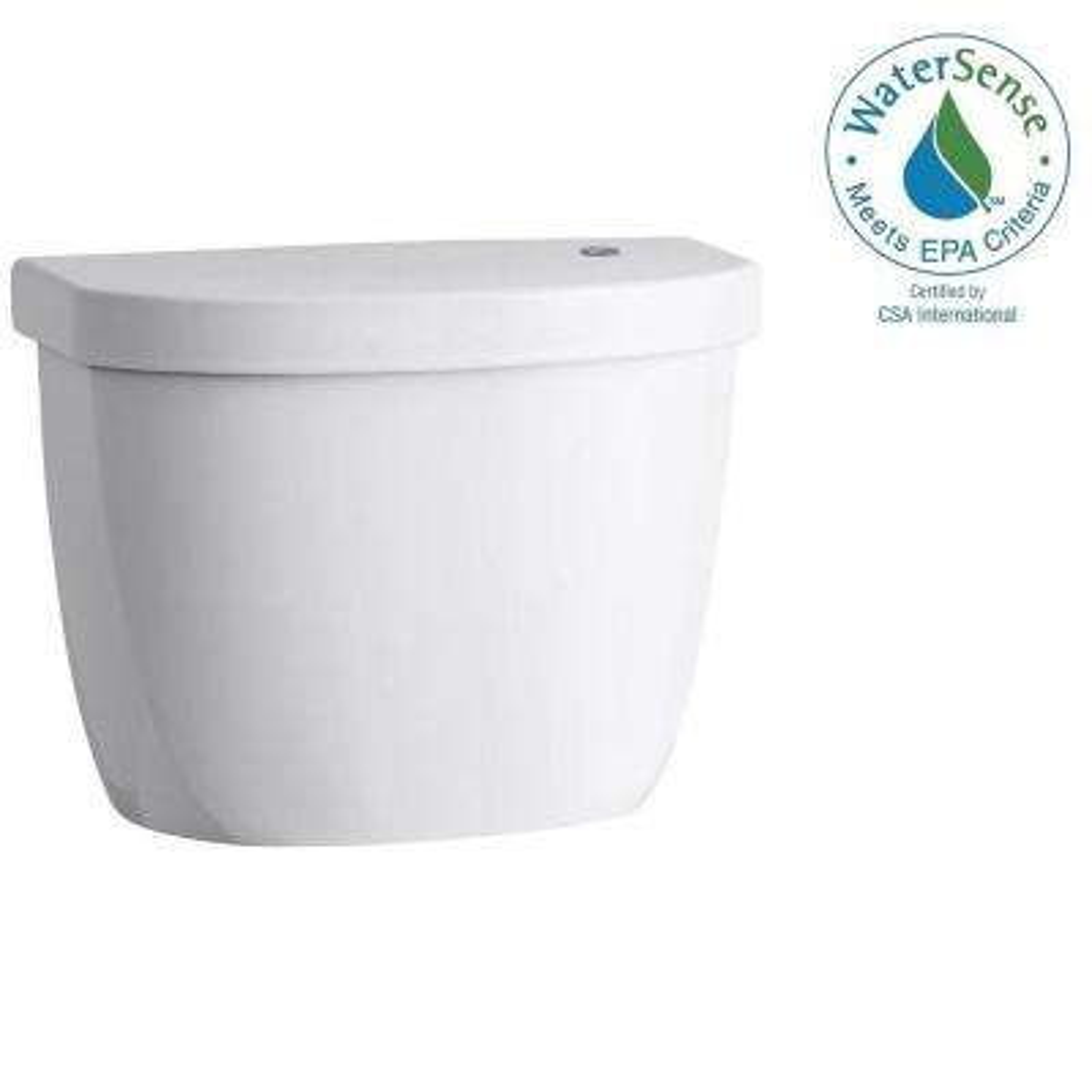 Cimarron Touchless 1.28 GPF Single Flush Toilet Tank Only in White