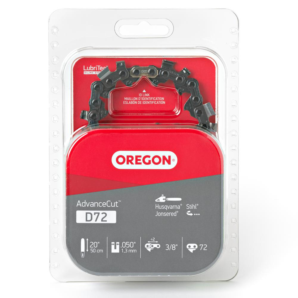 Oregon 20 in chainsaw chain d72 the home depot chainsaw chain greentooth Images