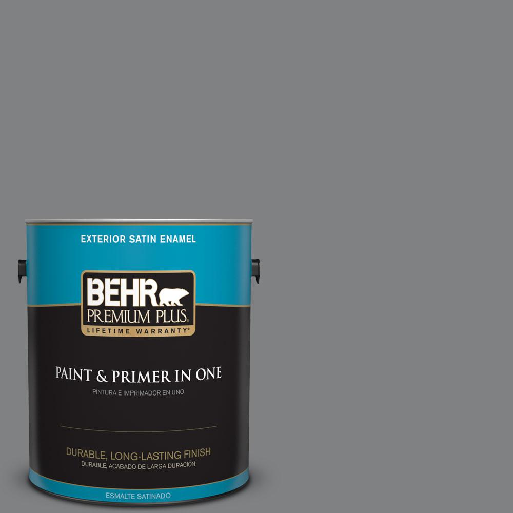 BEHR Premium Plus 1-gal. #T12-10 Game Over Satin Enamel Exterior Paint