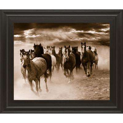 "22 in. x 26 in. ""Running Horses"" by Monte Naglar Framed Printed Wall Art"