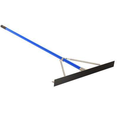 6 ft. Aluminum Handle 36 in. Smooth Asphalt Luke Rake