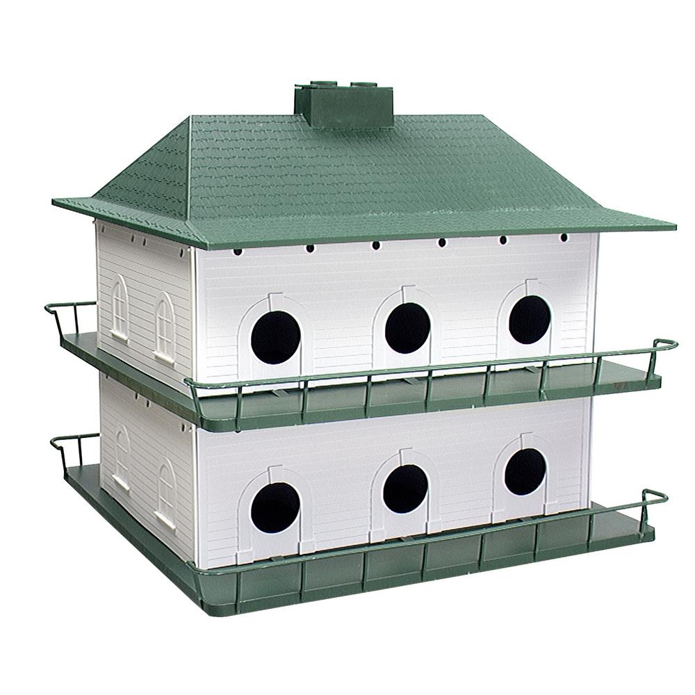 Heath plastic 12 room purple martin house ph 12 the home for Plastic duck house