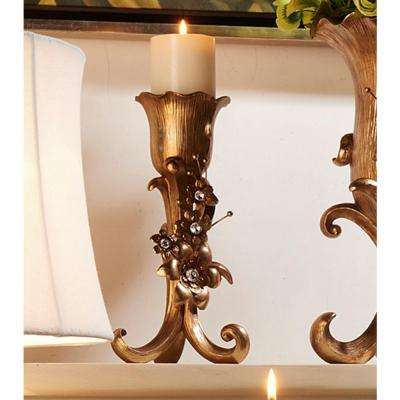 12 in. Athena Bronze Candle Holder