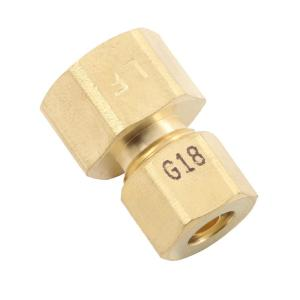 3/8 in. x 1/4 in. OD Compression Brass Reducing Coupling Fitting