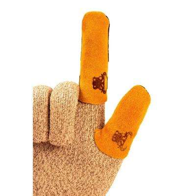 Cowhide Leather Finger Guard, size Large, Thumb Guard (Sold Separately)