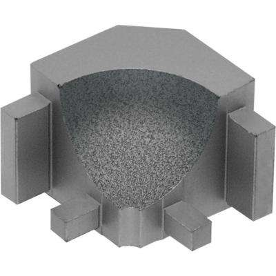 Dilex-AHK Pewter Textured Color-Coated Aluminum 1/2 in. x 1 in. Metal 90 Degree Inside Corner