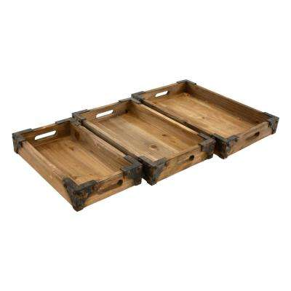 Brighton Wooden Trays (Set of 3)