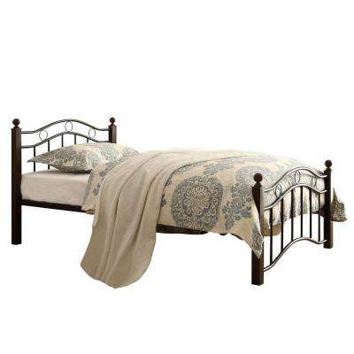 Dahlia Black and Brown Twin Platform Bed