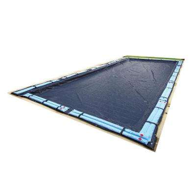 8-Year 18 ft. x 36 ft. Rectangular Navy Blue In Ground Winter Pool Cover