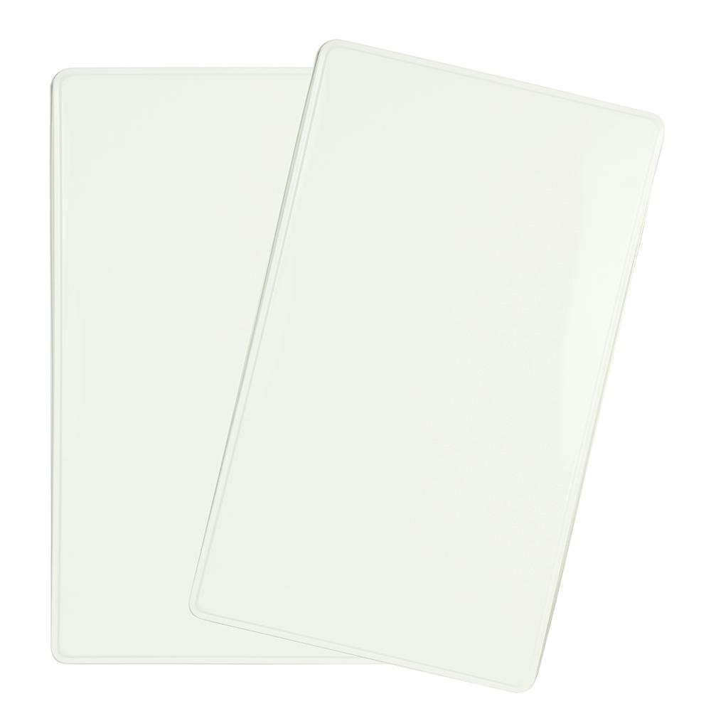 Range Kleen Mfg. Rectangle Burner Kover in White (2-Pack) White Rectangle Burner Kovers Set of 2. Traditional clean looking solid white for your kitchen. Looks great during any season. White color matches appliances nicely.