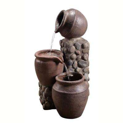 Outdoor Stacked Pot Fountain