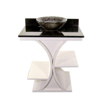 Cruz 30 in. Vanity in White with Granite Vanity Top in Black with Black Nickel Basin